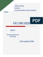 Placi Curbe - Seminar 3