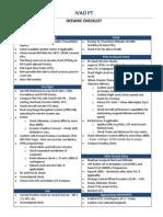 Oceanic Checklist