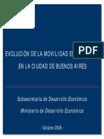 Evolución de la movilidad empresarial en la Ciudad de Buenos Aires - Octubre 2008