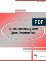 20 the Oracle Data Dictionary and the Dynamic Performance