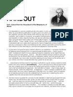 HANDOUT - Kant, Deontological Ethics