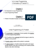 Problem Formulation (LP Section1)