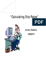EMS Calculating Drip Rates