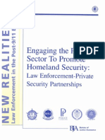 Bureau of Justice Assistance - Engaging the Private Sector to Promote Homeland Security- Law Enforcement-Private Security Partnerships