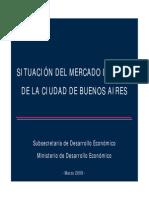 Situación del mercado laboral de la Ciudad de Buenos Aires - Marzo 2009