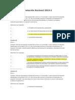 Evaluación Nacional 2013 COMERCIO INTERNACIONAL