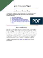 Liquid Membrane Types