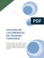 ANÁLISIS DE LAS EMPRESAS DE TRABAJO TEMPORAL