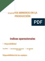 Equipos mineros en la producción