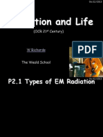 p2 radiation and life