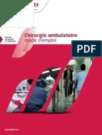 Chirurgie Ambulatoire Mode Emploi