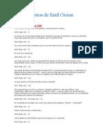 Los Cuadernos de Emil Cioran