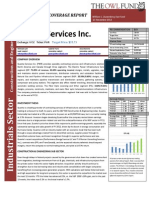 Quanta Services Inc. Initiating Coverage Report