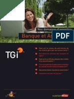 Nos domaines d'expertise - Secteur Banque & Assurance