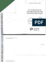 GARZ N VALD S E. El Concepto de Estabilidad de Los Sistemas Pol Ticos.