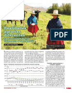 Realidades agrarias diferentes