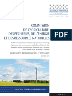 Rapport de la commission parlementaire sur l'inversion du pipeline 9B d'Enbridge