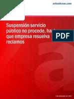 IE27 2013 12 Suspension Servicio Publico No Procede Si Falta Resolver Recurso