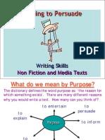 English Writing to Persuade