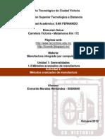 Manufactura Integrada Por Comp. (U1 Actividad 4 - Metodos Avanzados de Manufactura)