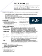 Systems Engineer in USA Resume Joel Mayer