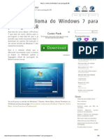 Alterar o idioma do Windows 7 para português BR