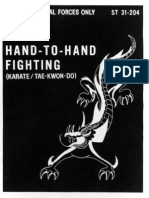 Hand to Hand Fighting - Karate, Tae Kwon Do - ST 31-204