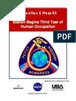 NASA ISS Expedition 6 Press Kit