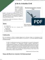 Día Internacional de la Aviación Civil - Wikipedia, la enciclopedia libre