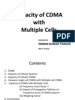 Capacity of CDMA With Multiple Cells