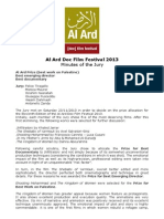 Al Ard Festival Verbale Giuria 2013 English
