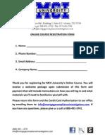 Online Course Registration Form