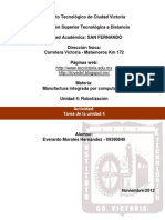 Manufactura Integrada Por Comp. (U4 Actividad - Tarea de La Unidad 4)