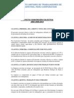 Proyecto de Convención Colectiva 2009 - 2010 SUTRAPPEC