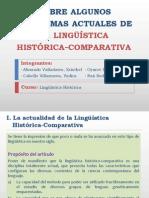 Sobre algunos problemas actuales de la lingüística histórica-comparativa