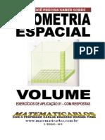 Volume - Exercicios de Aplicacao - Com Respostas