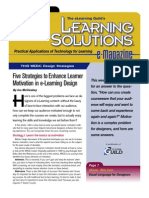 Learning Solutions Motivating Learnings to Learn