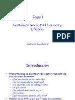 Tema 1 GRH y Eficacia