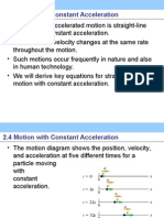 motion With Constant Acceleration Young Freedman