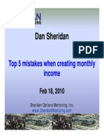Sheridan Top 5 Mistakes When Creating Monthly Income Feb10