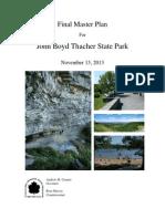 John Boyd Thacher State Park Final Master Plan [2013]