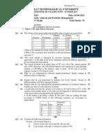 2830203-Security Analysis and Portfolio Management