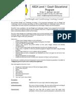 ASCA Level 1 Registration Form