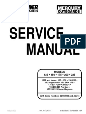 200 XRi Service Manual | Internal Combustion Engine | Propeller