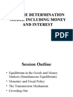 Goods and Money Market Interactions