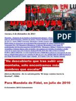 Noticias Uruguayas Viernes 6 de Diciembre Del 2013