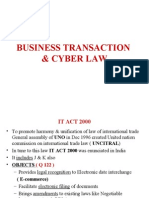 Busines Transaction and Cyber Law