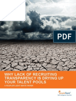 Why Lack of Recruiting Transparency is Drying Up Your Talent Pools