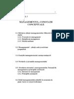 Management, Conotatii Conceptuale