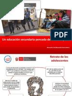 Una Educacion Secundaria Pensada Desde Los Sujetos PPT